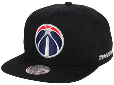 Washington Wizards Mitchell & Ness NBA Black Ripstop Honeycomb Snapback Cap