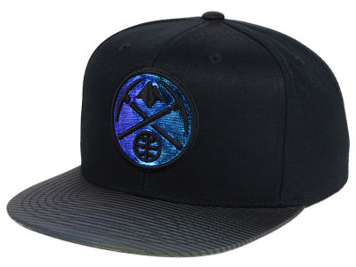 Denver Nuggets Mitchell and Ness NBA Black Logo Gaze Snapback Cap