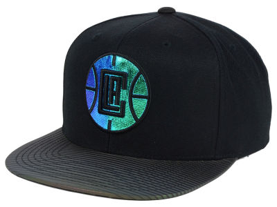Los Angeles Clippers Mitchell and Ness NBA Black Logo Gaze Snapback Cap