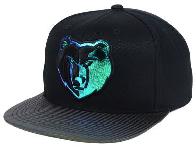 Memphis Grizzlies Mitchell and Ness NBA Black Logo Gaze Snapback Cap