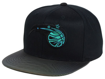 Orlando Magic Mitchell and Ness NBA Black Logo Gaze Snapback Cap