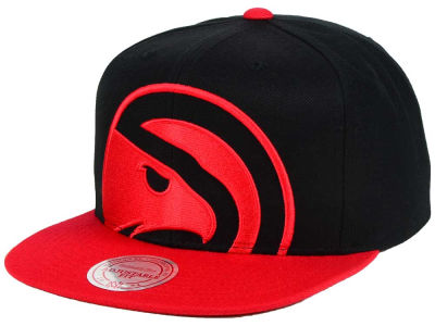 Atlanta Hawks Mitchell & Ness NBA Custom XL Cropped Snapback Cap