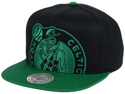 Boston Celtics Mitchell & Ness NBA Custom XL Cropped Snapback Cap