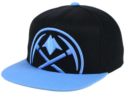 Denver Nuggets Mitchell & Ness NBA Custom XL Cropped Snapback Cap