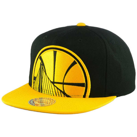 Golden State Warriors Mitchell & Ness NBA Custom XL Cropped Snapback Cap