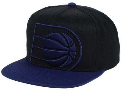 Indiana Pacers Mitchell and Ness NBA Custom XL Cropped Snapback Cap
