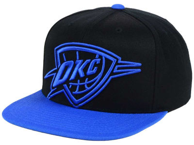 Oklahoma City Thunder Mitchell and Ness NBA Custom XL Cropped Snapback Cap