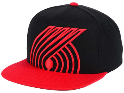 Portland Trail Blazers Mitchell and Ness NBA Custom XL Cropped Snapback Cap