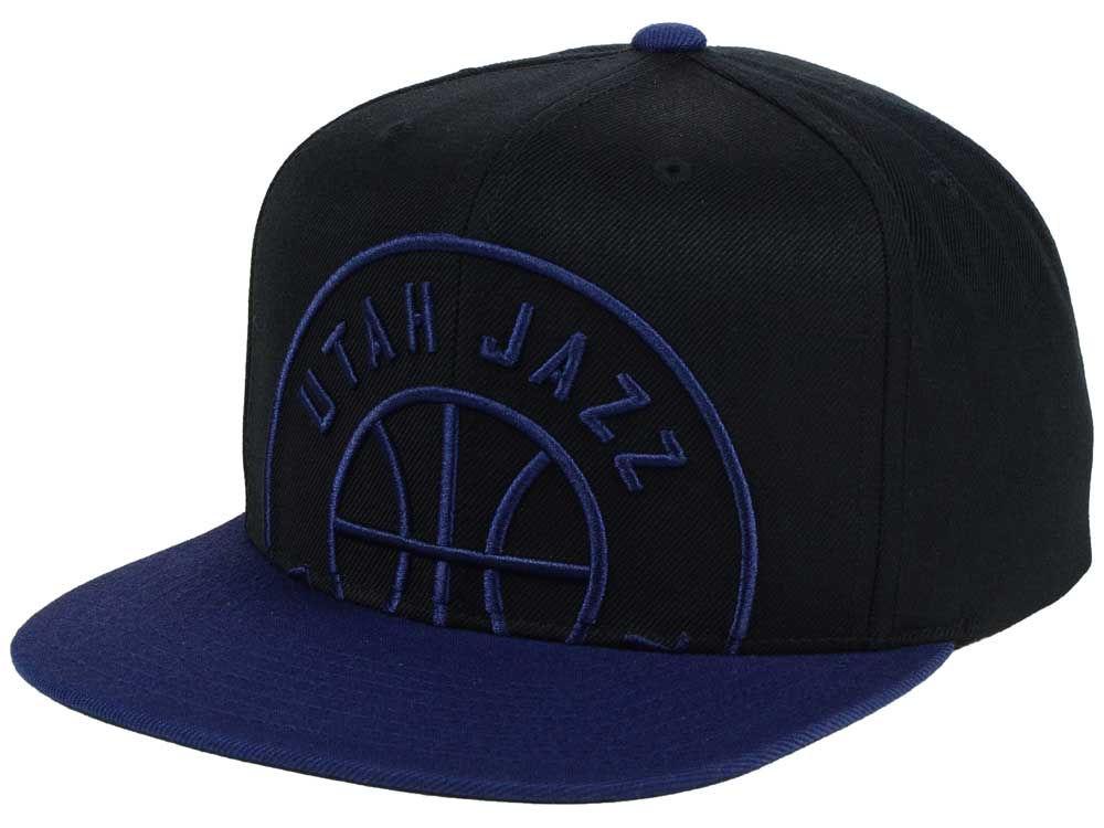 def638eb126b4 Utah Jazz Mitchell   Ness NBA Custom XL Cropped Snapback Cap