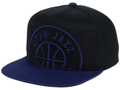 Utah Jazz Mitchell & Ness NBA Custom XL Cropped Snapback Cap