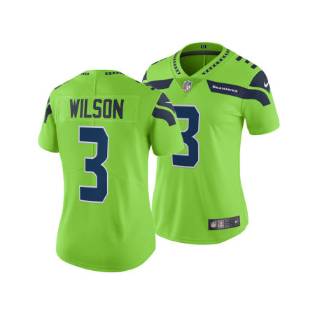 Seattle Seahawks Russell Wilson Nike NFL Women's Color Rush Limited Jersey