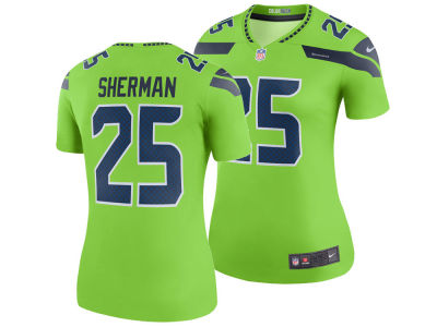 Seattle Seahawks Richard Sherman Nike NFL Women's Color Rush Legend Jersey