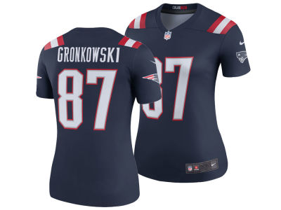 New England Patriots Rob Gronkowski Nike NFL Women's Color Rush Legend Jersey