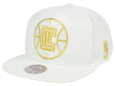 Los Angeles Clippers Mitchell & Ness NBA White Goldie XL Snapback Cap