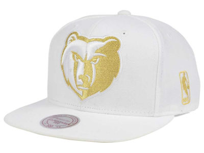 Memphis Grizzlies Mitchell & Ness NBA White Goldie XL Snapback Cap