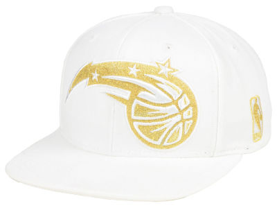 Orlando Magic Mitchell & Ness NBA White Goldie XL Snapback Cap