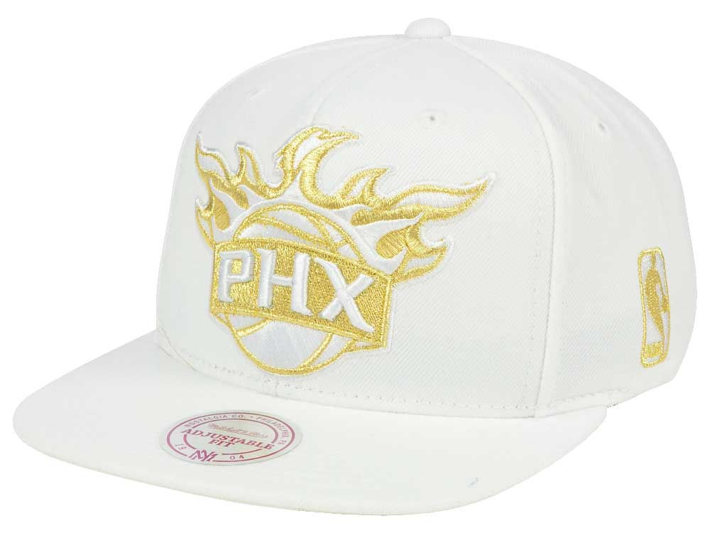 buy popular f1a39 5aa8a ... discount code for phoenix suns mitchell ness nba white goldie xl  snapback cap 23d11 9a7d2