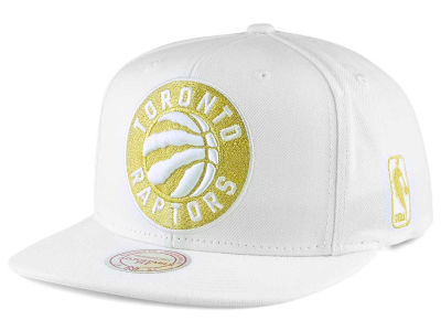 Toronto Raptors Mitchell and Ness NBA White Goldie XL Snapback Cap