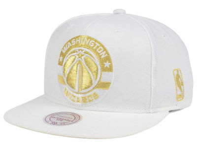 Washington Wizards Mitchell & Ness NBA White Goldie XL Snapback Cap