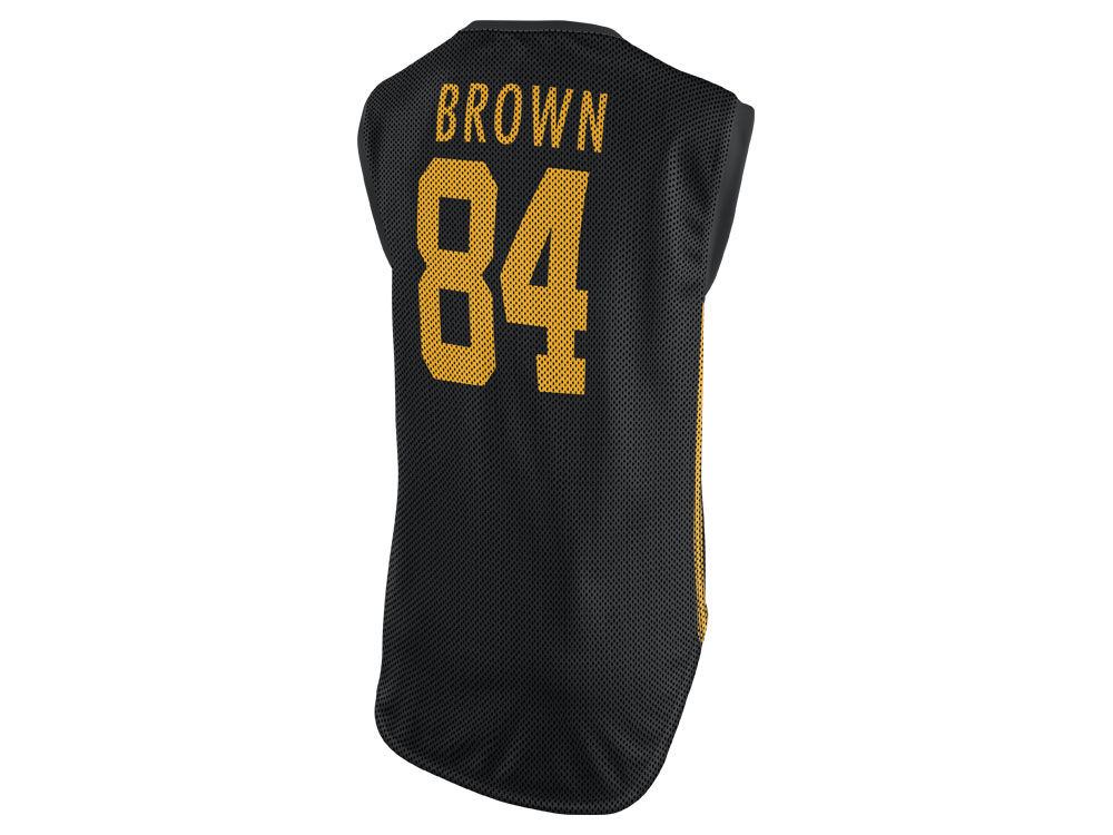 Pittsburgh Steelers Antonio Brown Nike NFL Women s Color Rush Sleeveless  Player Jersey  bddea04bd5