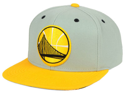 Golden State Warriors Mitchell and Ness NBA 2-Tone Velcro Strap Cap