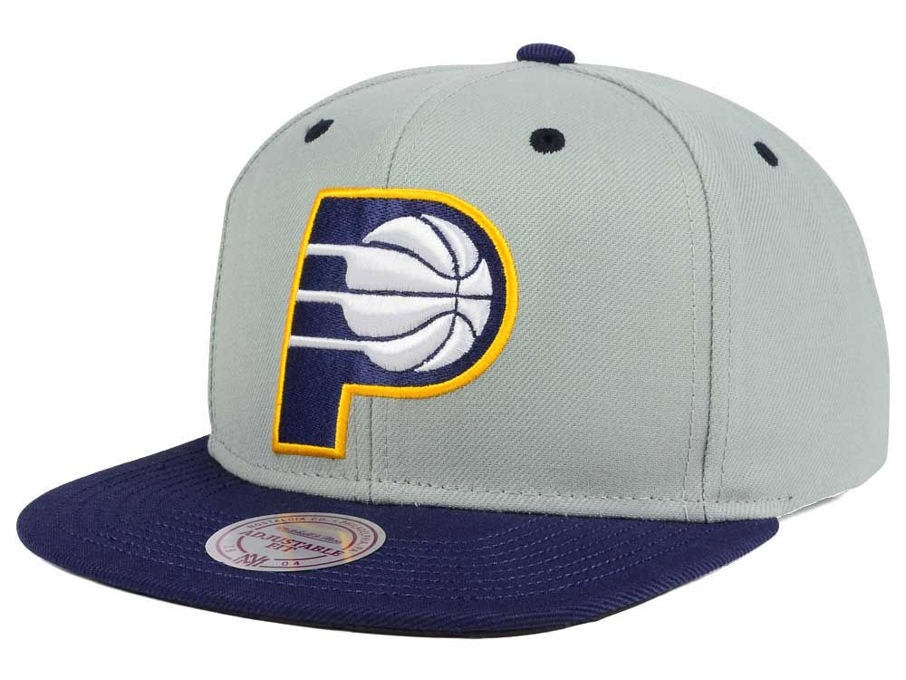 save off a80ad 79ae7 discount indiana pacers mitchell ness nba 2 tone velcro strap cap lids  82c89 df8fb