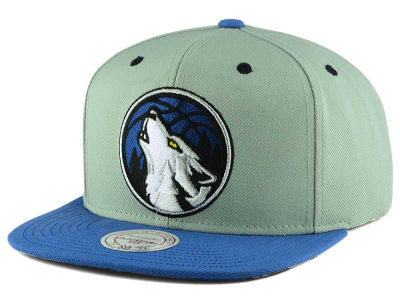 Minnesota Timberwolves Mitchell and Ness NBA 2-Tone Velcro Strap Cap