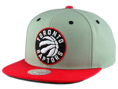 Toronto Raptors Mitchell and Ness NBA 2-Tone Velcro Strap Cap