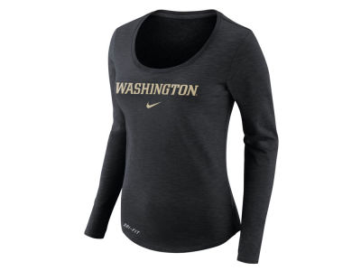 Washington Huskies Nike NCAA Women's Dri Fit Slub Long Sleeve T-Shirt