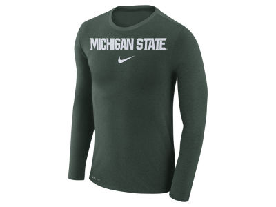 Michigan State Spartans Nike NCAA Men's Marled Long Sleeve T-Shirt