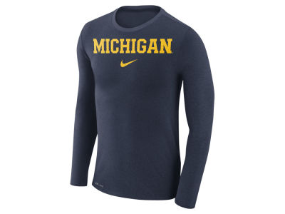 Michigan Wolverines Nike NCAA Men's Marled Long Sleeve T-Shirt