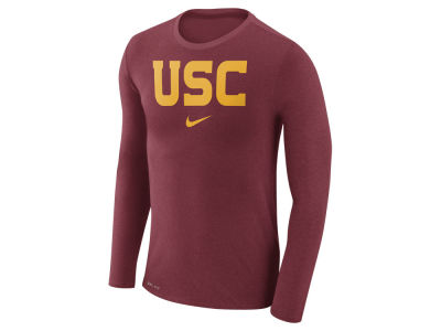 USC Trojans Nike NCAA Men's Marled Long Sleeve T-Shirt