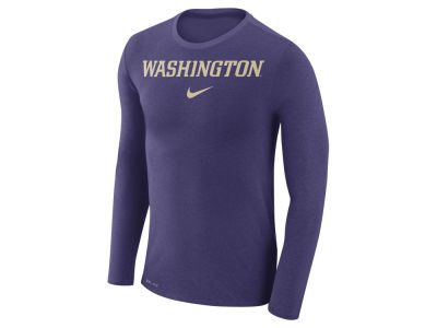 Washington Huskies Nike NCAA Men's Marled Long Sleeve T-Shirt