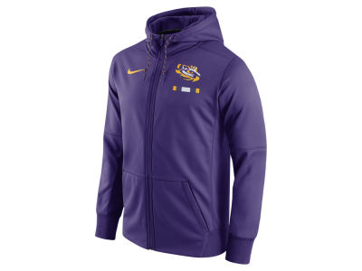 LSU Tigers Nike NCAA Men's Therma Full-Zip Hoodie