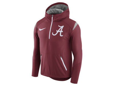 Alabama Crimson Tide Nike NCAA Men's Fly-Rush Hooded Quarter Zip