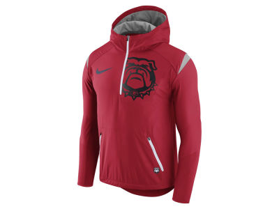 Georgia Bulldogs Nike NCAA Men's Fly-Rush Hooded Quarter Zip