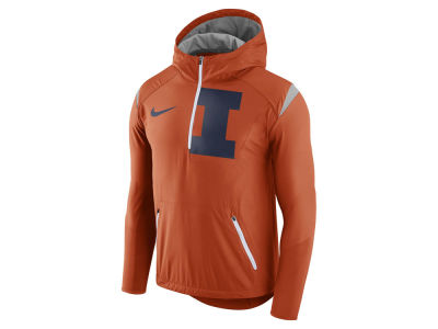 Illinois Fighting Illini Nike NCAA Men's Fly-Rush Hooded Quarter Zip