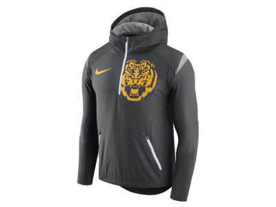 LSU Tigers Nike NCAA Men's Fly-Rush Hooded Quarter Zip