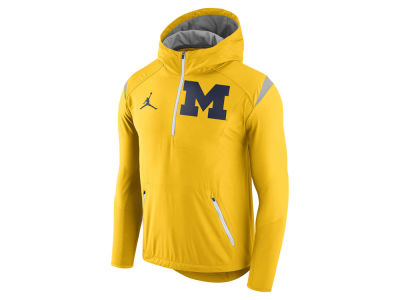 Michigan Wolverines Jordan NCAA Men's Fly-Rush Hooded Quarter Zip