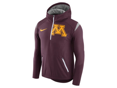Minnesota Golden Gophers Nike NCAA Men's Fly-Rush Hooded Quarter Zip