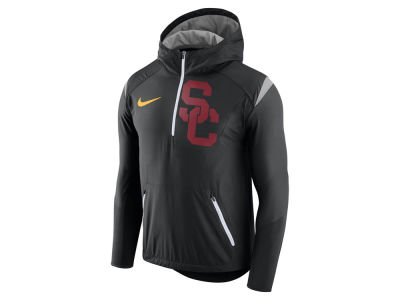 USC Trojans Nike NCAA Men's Fly-Rush Hooded Quarter Zip