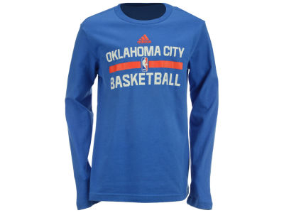 Oklahoma City Thunder NBA Youth Practice Wear Long Sleeve T-Shirt