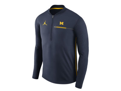 Michigan Wolverines Jordan NCAA Men's Coaches Quarter Zip