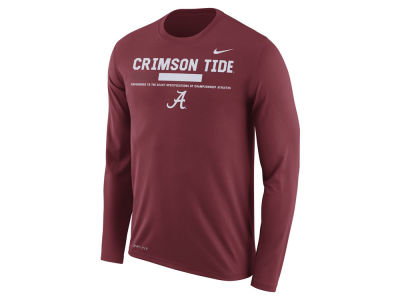 Alabama Crimson Tide Nike NCAA Men's Legend Sideline Long Sleeve T-Shirt
