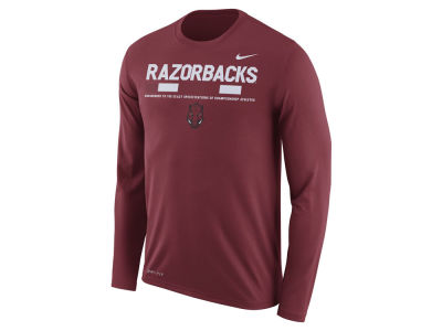 Arkansas Razorbacks Nike NCAA Men's Legend Sideline Long Sleeve T-Shirt