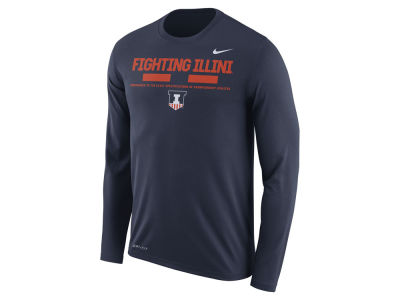 Illinois Fighting Illini Nike NCAA Men's Legend Sideline Long Sleeve T-Shirt