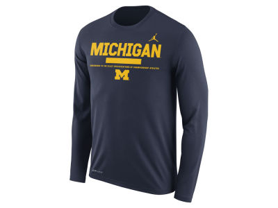 Michigan Wolverines Jordan NCAA Men's Legend Sideline Long Sleeve T-Shirt