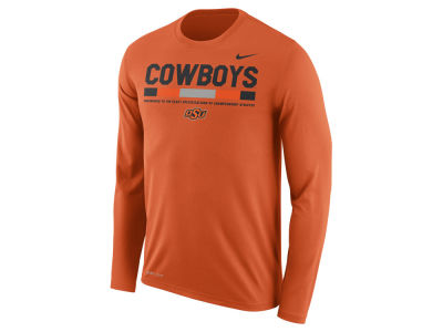 Oklahoma State Cowboys Nike NCAA Men's Legend Sideline Long Sleeve T-Shirt