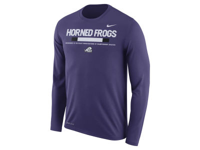 Texas Christian Horned Frogs Nike NCAA Men's Legend Sideline Long Sleeve T-Shirt