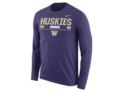 Washington Huskies Nike NCAA Men's Legend Sideline Long Sleeve T-Shirt